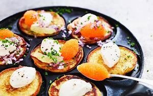 Ljuvliga potatisplättar – receptet är skapat av Tommy Myllymäki, årets vinnare av Bocuse d'Or 2014.