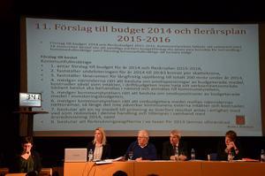 Budgetdebatt. Katarina Hansson (S), till vänster, debatterade flitigt.
