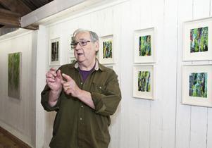 BJÖRKFRÄLST. Lars Givell har fastnat för björkar i sin del av utställningen.