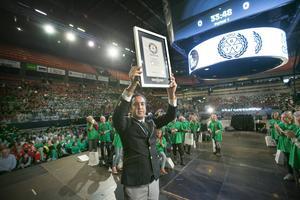 Förra årets sattes en världsrekord i Gavlerinken på Barnkonventionens dag.