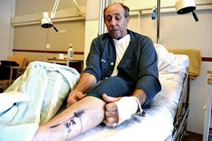 Håkan Jonsson lider av artros och har fått en ny knäled. Han hyllar Bollnäs sjukhus som det finaste hotell där patienten verkligen sätts i centrum.