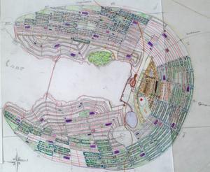 Så här skulle Hudiksvall kunna se ut om tätorten byggdes upp på nytt för en befolkning på 50000 invånare.