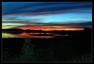 Var uppe i Särna och fiskade harr, när jag fick uppleva denna fantastiska solnedgång