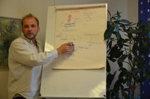 Framtidstänk. Anders Persson som initierat Framtidsveckan berättar om hur Nora lokalproducerad mat kan ge Nora 750 nya jobb.