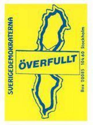 Sverigedemokratiska klistermärken från början av 90-talet. Vilket gillade Jimmie Åkesson mest?