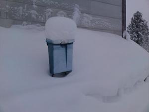 Bilden är tagen på juldagen 2009 och den visar postlådan utanför min farmor och farfars hus i Storåbränna. Huset står tomt sen många år tillbaka, men hoppas på liv igen. Och kanske kommer en LT tidning hamnaibrevlådan någondag, vem vet?