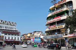 I Hanoi kostar hotellen minst.