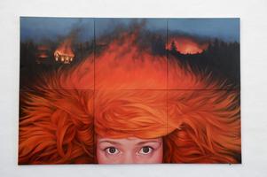 Är det i mitt huvud det brinner eller är det hela världen som står i brand av Ella Tillema från Malmö.