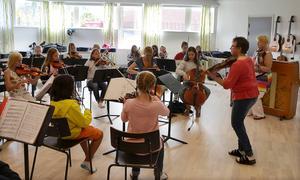 Kulturskolan ska växa. Här fiolläger i Timrå kulturskolas regim.