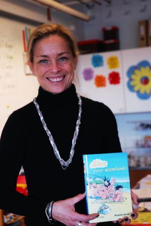 Barn- och ungdomsförfattaren Pernilla Gesén var på författarbesök hos fjärdeklassarna på Kungsgårdsskolan i Säter.