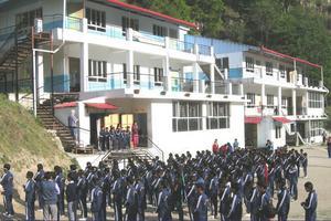 Den nya skolbyggnaden invigdes 2014. Där får nu omkring 300 barn från 20 byar en grundutbildning.