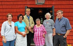 Från vänster: Madeleine Vagge, Margareta Nybelius, Thorhallur Hemisson, Ullastina Åkesson, Birgitta Arvidson och Ingvar Sahlander. Foto: Emma Andersson