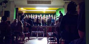 Alla elever på Fjällängsskolan, 200 totalt, satte upp musikalen Det försvunna receptet. En musikal de hade råd att göra genom sökta pengar från Statens kulturråd.