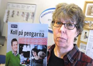 Ingrid Larsson, budgetskuldrådgivare. Snart får hon mycket att göra.