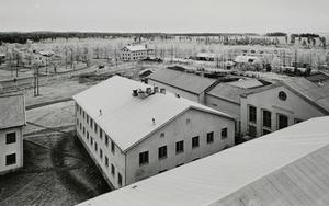 En översiktsbild över anstalten i Ulriksfors. I dag är det företaget Itella som huserar i själva huvudbyggnaden.