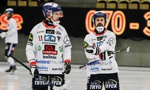 Daniel Berlin, här tillsammans med Pär Törnberg, gjorde stor succé under sina år i Bollnäs.