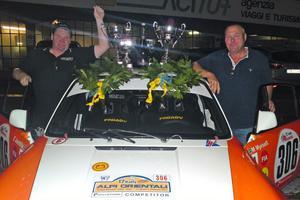 Mats Myrsell, från Stora Skedvi, och Esko Junttila kan numera titulera sig europamästare i historiskt rally.