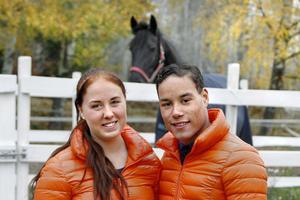 Satsar på hästar. Lovisa och Pascal, 21 år gamla.