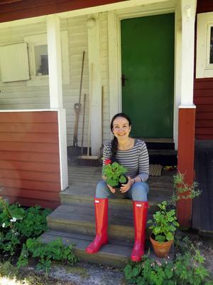 Susanna Rosén har skrivit flera böcker om pelargoner och det var med just krukväxter hon började sitt odlande.