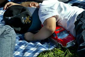 Den som kände sig lite utmattad av festivelen kunde ta en tupplur i gräset.
