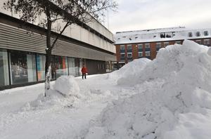 Bollnäs kommun har nu tagit bort de stora drivorna för att undvika en olycka.