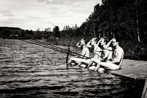 kalenderpojkarna. Jonas Karles, Joakim Nygren, Jakob Reesalu, Jonas Lundgren och Karl Persson är alla i 25-års åldern.