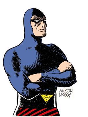 Fantomen, även känd som Den vandrande vålnaden, är föremål för en utställning på Lasse Åbergs museum. Här syns seriefiguren i tecknaren Wilson McCoys version.