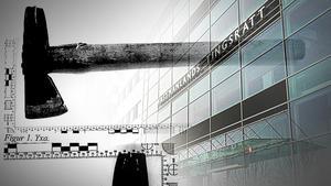 Rättegången om yxattacken i Arboga inleddes på tisdagen.