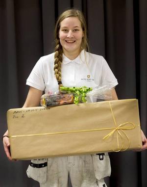 Julia Svensson, går tredje året på Palmcrantzskolan i Östersund. Hon blev tvåa i kvalet till måleri-SM i Umeå. Nu väntar träning inför SM-finalen i maj.