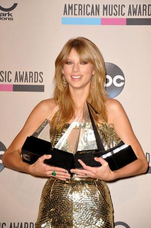 Taylor Swift prisades stort.