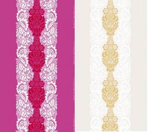 Två färgvarianter av mönstret ananas.