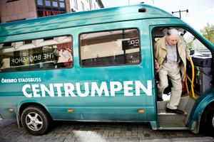 En av 497. Kurt Gustavsson var en av de resenärer som använde sig av centrumpendeln mellan Våghustorget och Resecentrum.