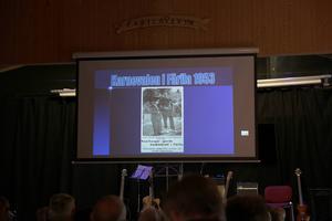 Peter Lindgren ville ha fler bilder från karnevalerna mellan 1951 och 1966 så han efterlös det bland publiken.