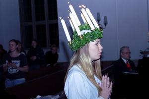 Årets lucia, Emma Flodin, lottades fram.