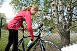 Nyförvärv. – Det är femte gången jag åker på min nya cykel, berättade Kajsa Sköld från Filipstad.