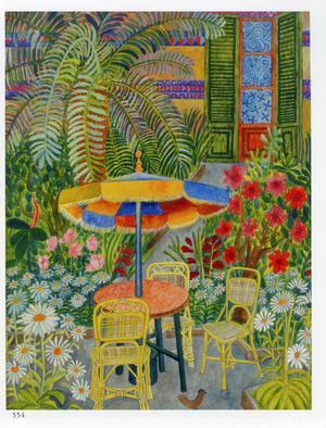 Villa La Mola – Mallorca. Akvarell av Mårten Andersson. Utrop: 20 000–30 000 kronor.