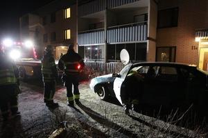 Bilen bärgades från platsen.