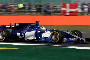 Marcus Ericsson på Silverstone Circuit i England.