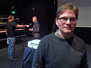 Dramatikern Jerker Beckman skriver manuset till den nya föreställningen.