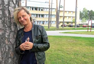 Marie Bondeson är artist in hospital på Gävle sjukhus psykosavdelning.
