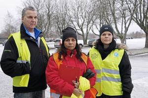 Ola Lindberg, Jenny Dahlberg och Marie Larsson är tre av dem som deltog i sökandet på lördagen.