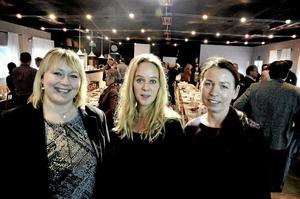 Kvinnotro. Ulrika Kraft Stenlund vd för Munksjö Aspa Bruk, Stina Granberg ägare till Sörby Vinhandel och SVT Tvärsnytts redaktionschef Linda Hermansson var trion som presenterade sina företag.