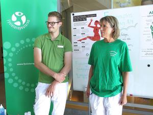 De kallas inte längre sjukgymnaster utan fysioterapeuter. På tisdagen fanns Rutger Dahlberg och Eva Matton på plats i sjukhusentrén i Gävle för att informera.