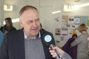 Jonas Sjöstedt (V) besöker Sollefteå sjukhus