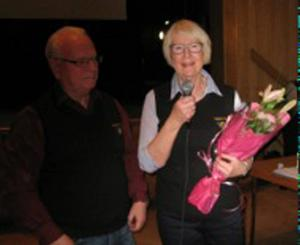 Styrelseledamot Monica  Eriksson avtackades.