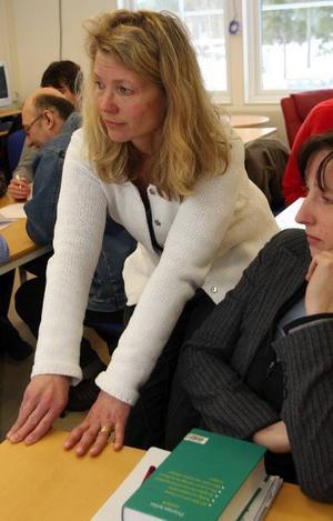 – Jag har ett väldigt inspirerande jobb, säger SFI-läraren Katarina Lundmark.