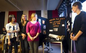 Nancy Nontakorn Sriwirg, Alexandra L Hedqvist, Hanna Brink och Klara Logård byggde en monter och belönades med klippkort på badhuset
