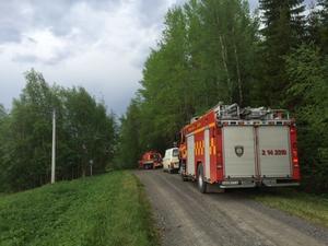 Änge räddningstjänst letar efter en brand.