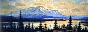 Åreskutan målad 1923 från Brattland, tavlan i privat ägo.