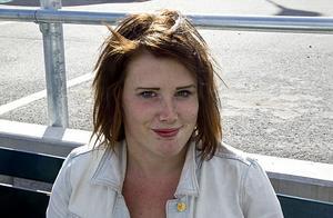 Rebecca Johansson trivs i Hudiksvall.